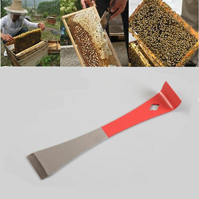 7D80 Beekeeping Tool J-type Red Curved Tail Bee Beekeepers Hive Claw Hook Scrape