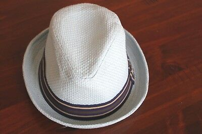 PETER GRIMM Fedora Hat Blue Size Small Pork pie paper straw hat 56cm DEPP Small