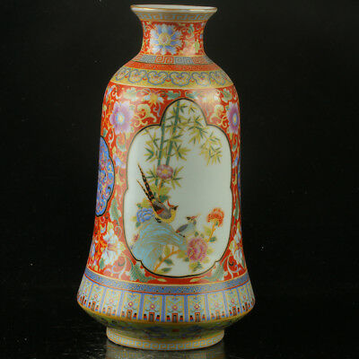 Chinese Enamel Porcelain Hand Painted  Vase Made During The Yong Zheng Period  `