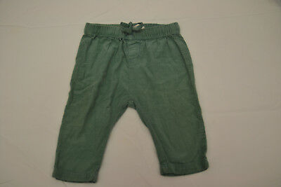 Country Road green corduroy pants (100% cotton) 6 -12 months - worn