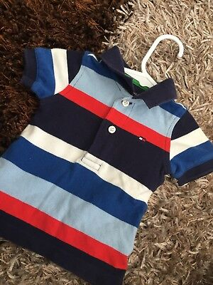 ✨ Baby Boy Tommy Hilfiger Striped Polo Tee- AS NEW. SZ 3-6 Month