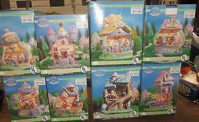 Easter Vale 8 piece Lighted Village Set - NIB - BAKERY, SCHOOL, GROCERY ETC NEW!