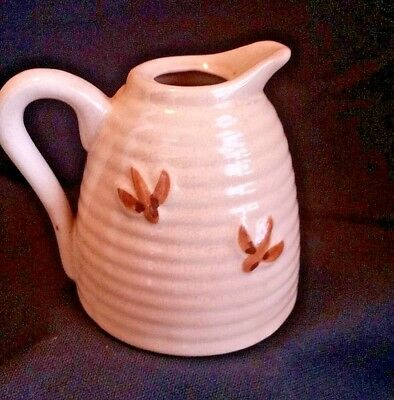 Bee Skep Pottery Vintage Pitcher Hive Honey Jar Honeybee Country Farmhouse Chic