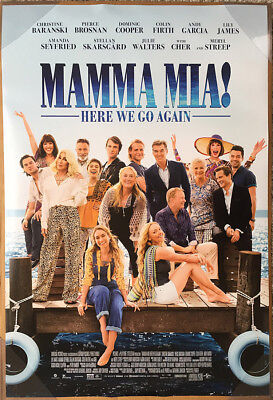 MAMMA MIA! HERE WE GO AGAIN MOVIE POSTER 2 Sided ORIGINAL FINAL RATED 27x40