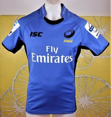 WESTERN FORCE RUGBY UNION PLAYER ISSUED JERSEY mens size medium