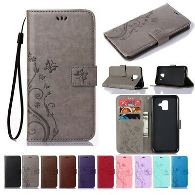 For Samsung Galaxy A3 A5 A6 A7 A8 A9 PU Leather Magnetic Flip Wallet Case Cover