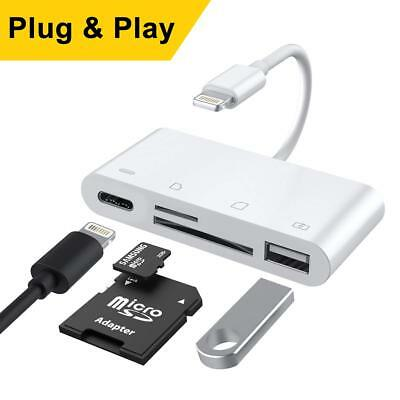 Lightning to SD Card Reader for iPhone iPad, Trail and Game Camera Card Reader,