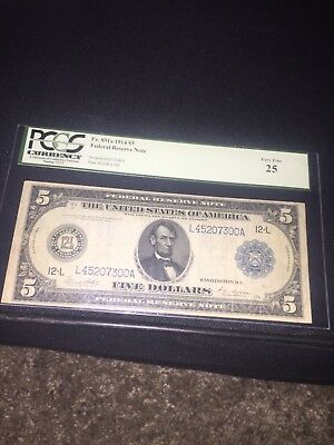 1914 5 federal reserve note Chicago IL