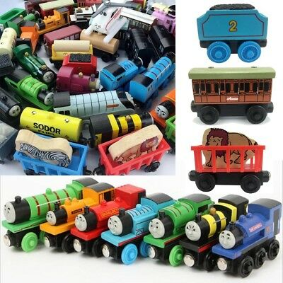 The Tank Engines Carriages Magnetic Wooden Train Toy Take-n-play Engine Kids Car