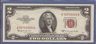 1953 C $2 United States Note (USN),Red Seal,Choice Crisp Uncirculated,Nice!