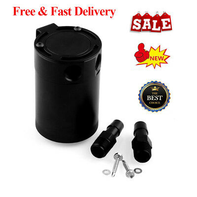 Black Universal Mishimoto Compact Baffled Oil Catch Can 2-Port GD