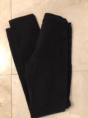 Women's Express Skinny Mid Rise Jeans Black Size 0