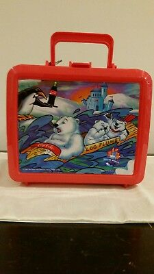 Coca Cola Polar Bear Lunch Box With Thermos 1996. Never used. Orig.Tag Attached