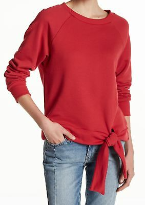 c1d1e9fb4f23c Ten Sixty Sherman NEW Red Women Size Medium M Pullover Tie-Front Sweater   44 356