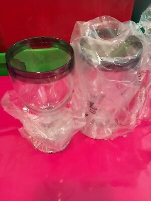 Tupperware Wine Glasses - Black Color Rims BNIB