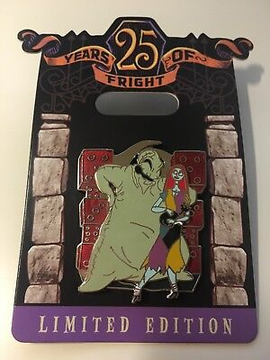 Disney Nightmare Before Christmas 25 Years Of Fright Oogie Boogie SalLy Pin LE