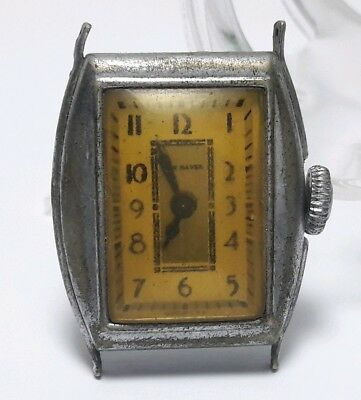 Vintage mens New Haven mechanical movement dollar watch for repair #72CEY