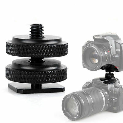 "1/4""-20Cold Foot Screw Adapter for Camera Hot Shoe Mount Double Nut Flash Holder"