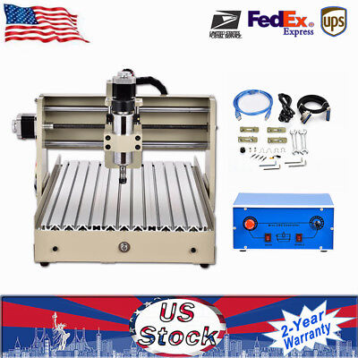 USB 4 Axis CNC 3040T Router Engraver Milling Engraving Machine Cutter 400W GREAT