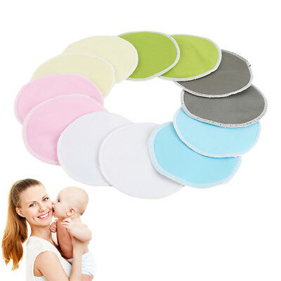 Bamboo Reusable Breast Pads Nursing Breastfeeding Plain Washable Pack of 24pcs