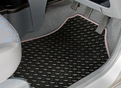 Peugeot Partner Tepee (2008-On) Tailored Rubber Car Mats With Grey Trim [2142]