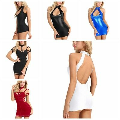 Sexy Womens Sleeveless Backless Bodycon Cocktail Party Slim Mini Dress Clubwear
