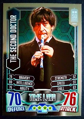 Dr Who The Second Doctor #10 Holofoil Alien Attax 50th Anniversary Card