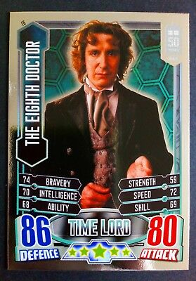 Dr Who 50th Anniversary #16 The Eighth Doctor Alien Attax Trading Card