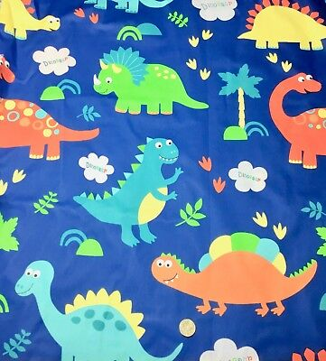 1/2 YD New Quilting Fabric Cartoon Dinosaur Toss Cotton Sewing Material