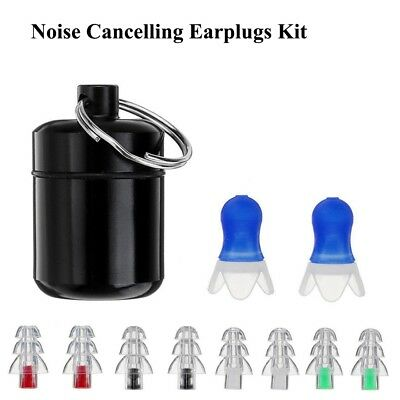 1 Set Noise Cancelling Ear Plugs Hearing Protection Music Concerts Sleeping WT