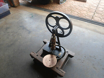 Vintage Working  Cast Iron /brass Piston   Pump For Stationary Motor /30Kgs