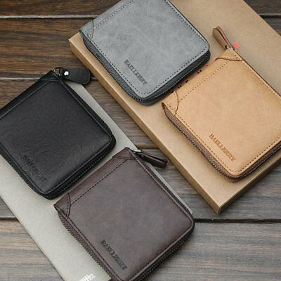 Vintage Mens Leather RFID Blocking Wallet Credit Card Holder Coin Purse 0T