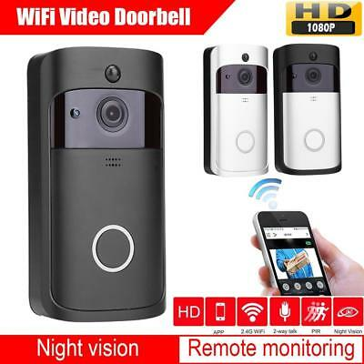 Smart Video Wireless WiFi DoorBell IR Visual Camera Record Home Security 1080P
