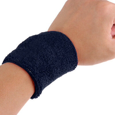 2Pcs Sports Basketball Badminton Tennis Unisex Cotton Sweatbands Wristbands