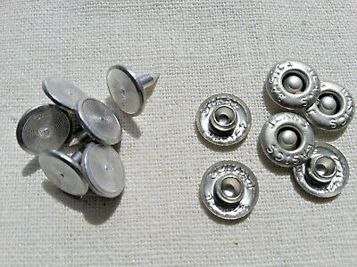 10mm Jean Rivets Buttons with Pin Metal No Sewing Press Studs Buttons Set of 10