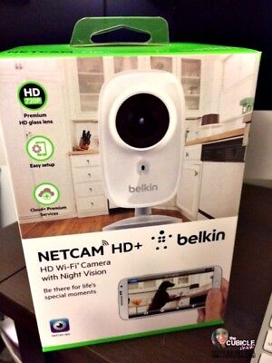 New Belkin Wifi Netcam Hd Networking Ip Camera Hd-720P Wide Angle Night Vision