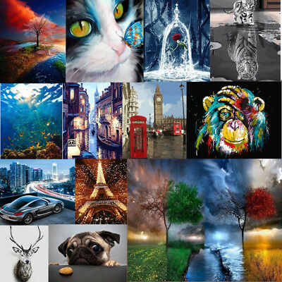 Various Art Paint By Number Kit DIY Acrylic Oil Painting On Linen Home Decor
