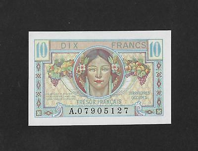 UNC military treasury issue 10 francs 1947 FRANCE