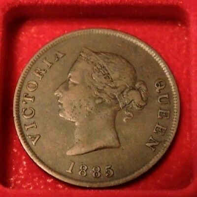 Cyprus 1885 1/2 Piastre Queen Victoria Vf Extremely Rare