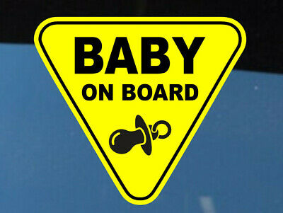 Baby On Board SELF ADHESIVE VINYL STICKER Child Boy Car Sign Window Safety