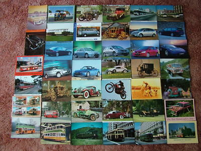 41 Postcards of MODES OF TRANSPORT. Used & Unused. Modern size.