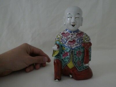 Antique Chinese Porcelain Laughing Boy Figure