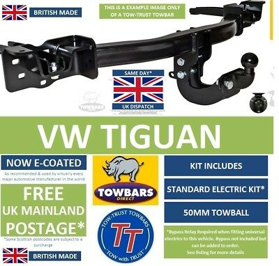 Flange Towbar for VW Volkswagen Tiguan 2016on 2WD 4WD Inc Allspace TVW8