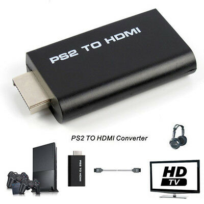 PS2 to HDMI Converter 3.5mm PSX Sony Playstation 2 AV Adapter Cable USB HD PS4