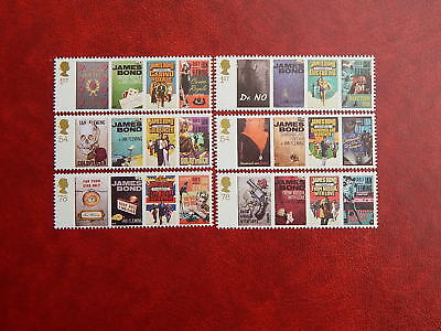 gb stamps s g 2797-2802.Birth Centenary of Ian Fleming.