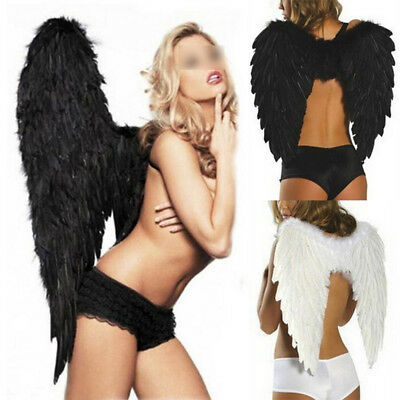 Large Feather Fairy Angel Wings Adult Kids Cosplay Costume Halloween Fancy Dress