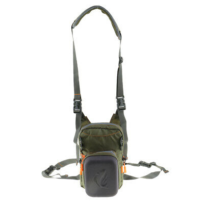 Tackle Bag Chest Bag Waist Pack with Molded Fly Patch for Fly Fishing