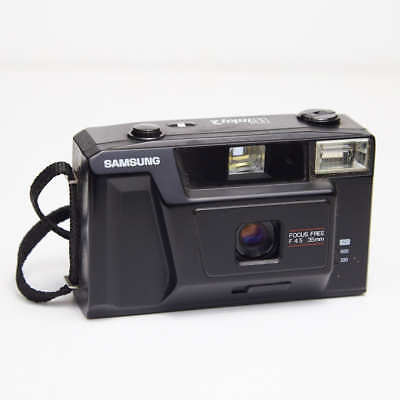 Samsung Winky 2 focus free f4.5 35mm point and shoot camera VINTAGE