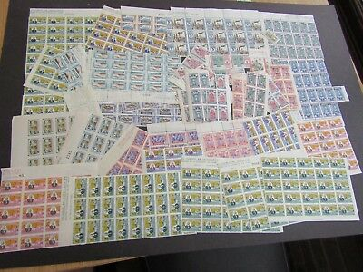 SPAIN - COLLECTION OF 1930s/40s ZARAGOZA CIVIL WAR ISSUES IN PART SHEETS - MNH
