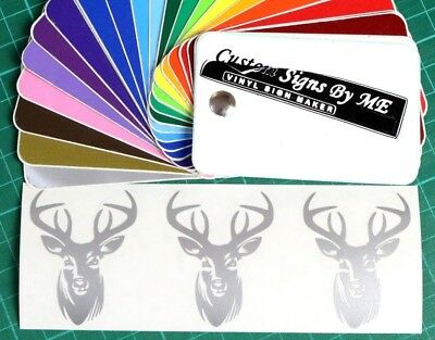 3x Personalised Wine Glass Stag Head Stickers Vinyl Decals Adhesive Gift Card SL